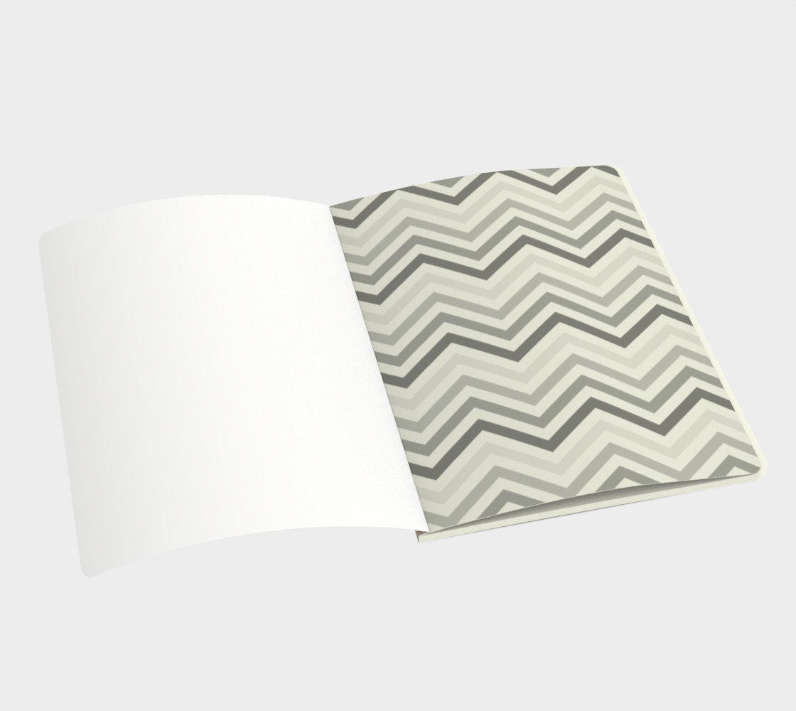 Teal chevron - notebook preview #3