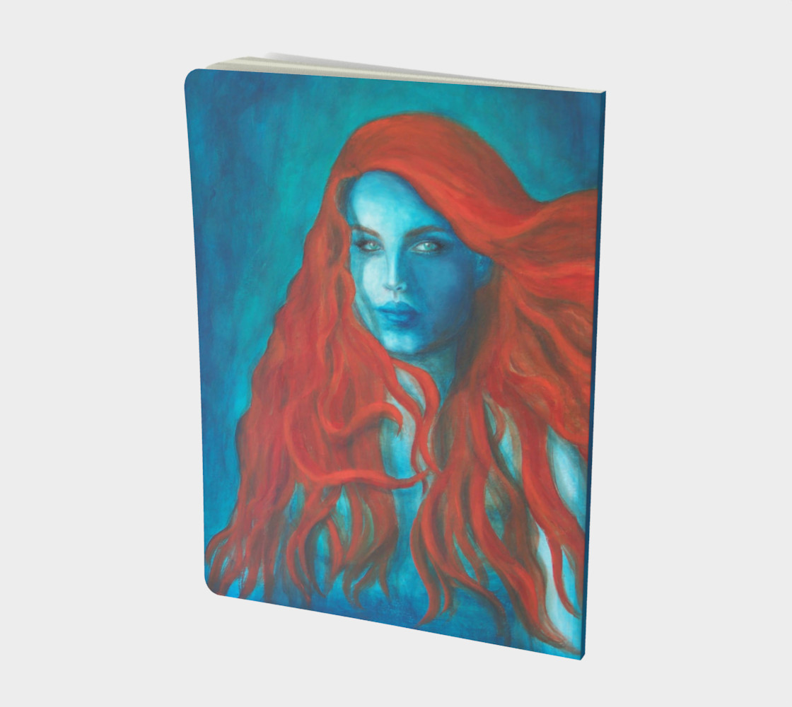 Blue Mermaid - Large Notebook Journal preview #2