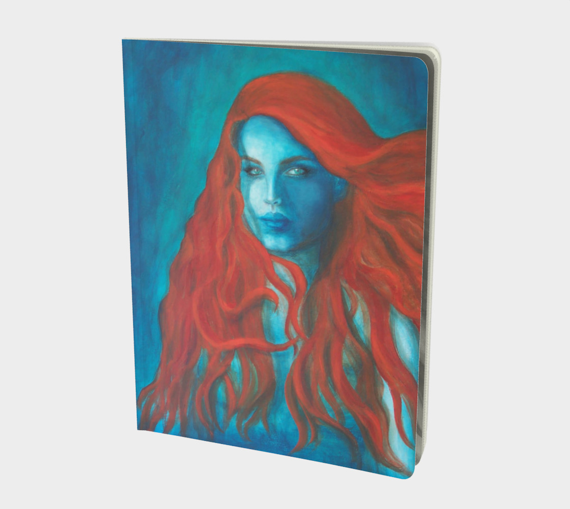 Blue Mermaid - Large Notebook Journal preview #1