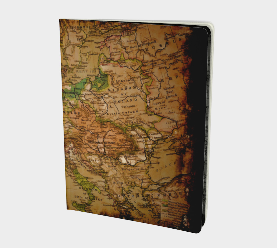 Aperçu de Arty Vintage Old World Map of Europe 1740 #1