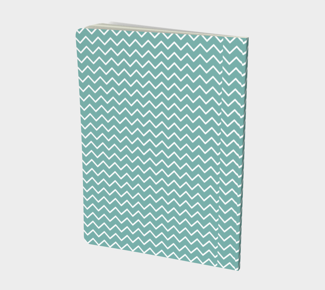 Teal Waves Notebook preview #2