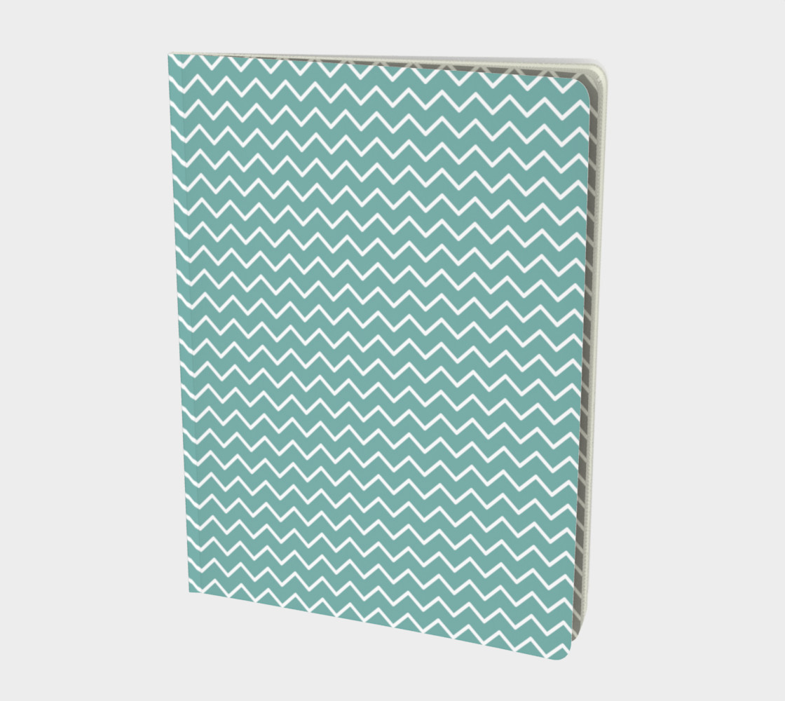 Teal Waves Notebook preview #1