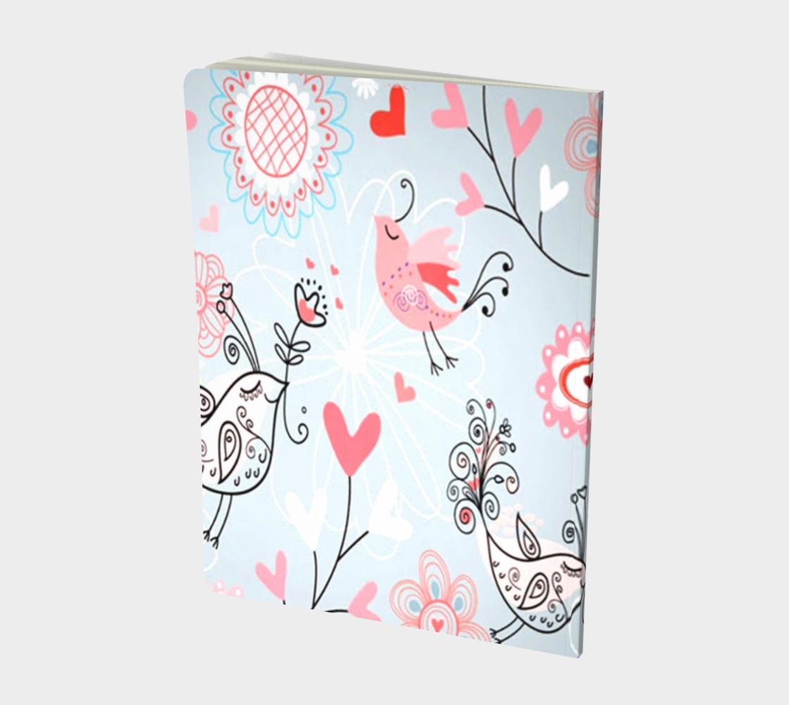 cute love birds Notebook preview #2