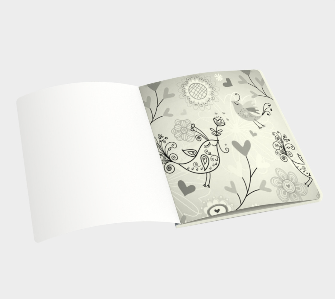 cute love birds Notebook preview #3