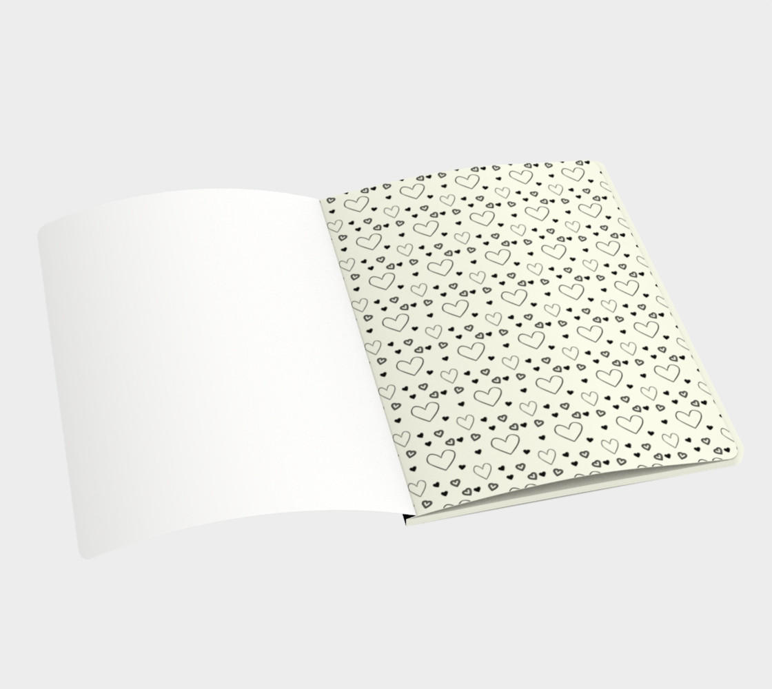 Nurse EKG Heart - Watercolor Inspired Notebook preview #3