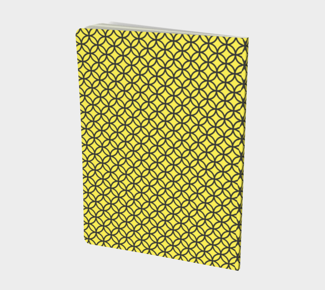 Spectacular Yellow Circle Geometric Pattern - Notebook preview #2