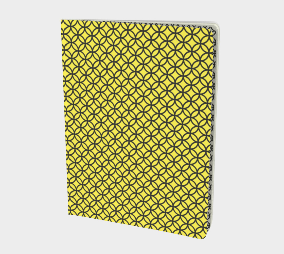 Spectacular Yellow Circle Geometric Pattern - Notebook preview #1