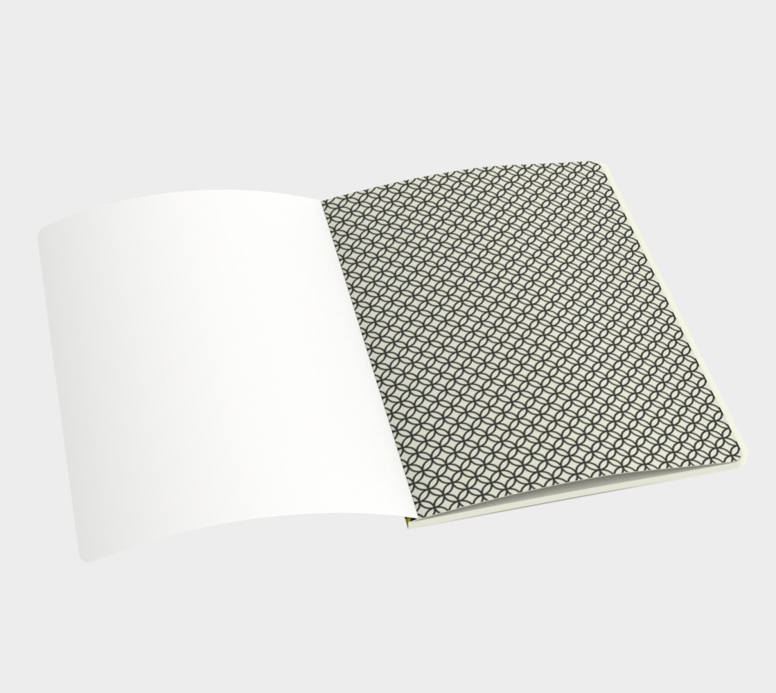 Spectacular Yellow Circle Geometric Pattern - Notebook preview #3