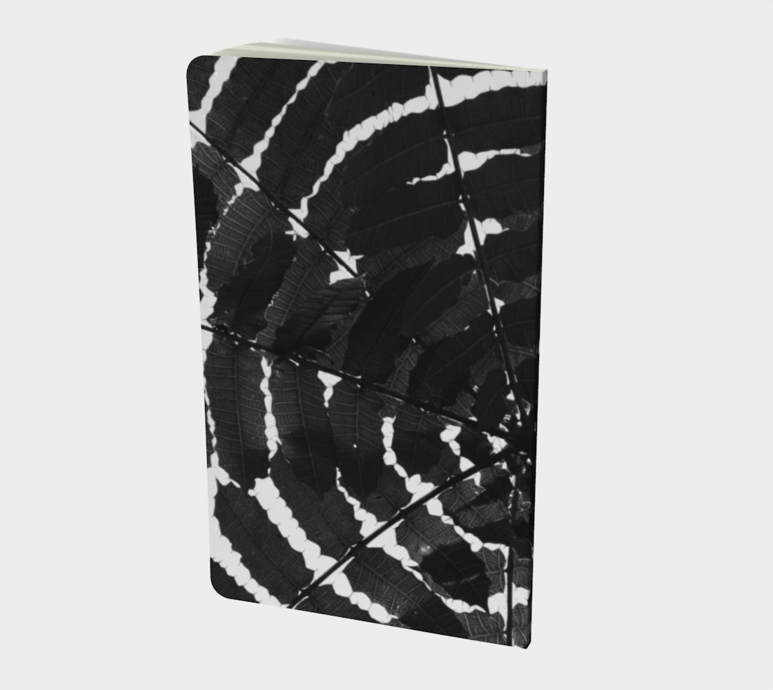 Black and White Leaf Notebook preview #2
