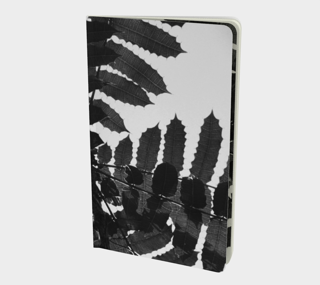 Black and White Leaf Notebook preview #1