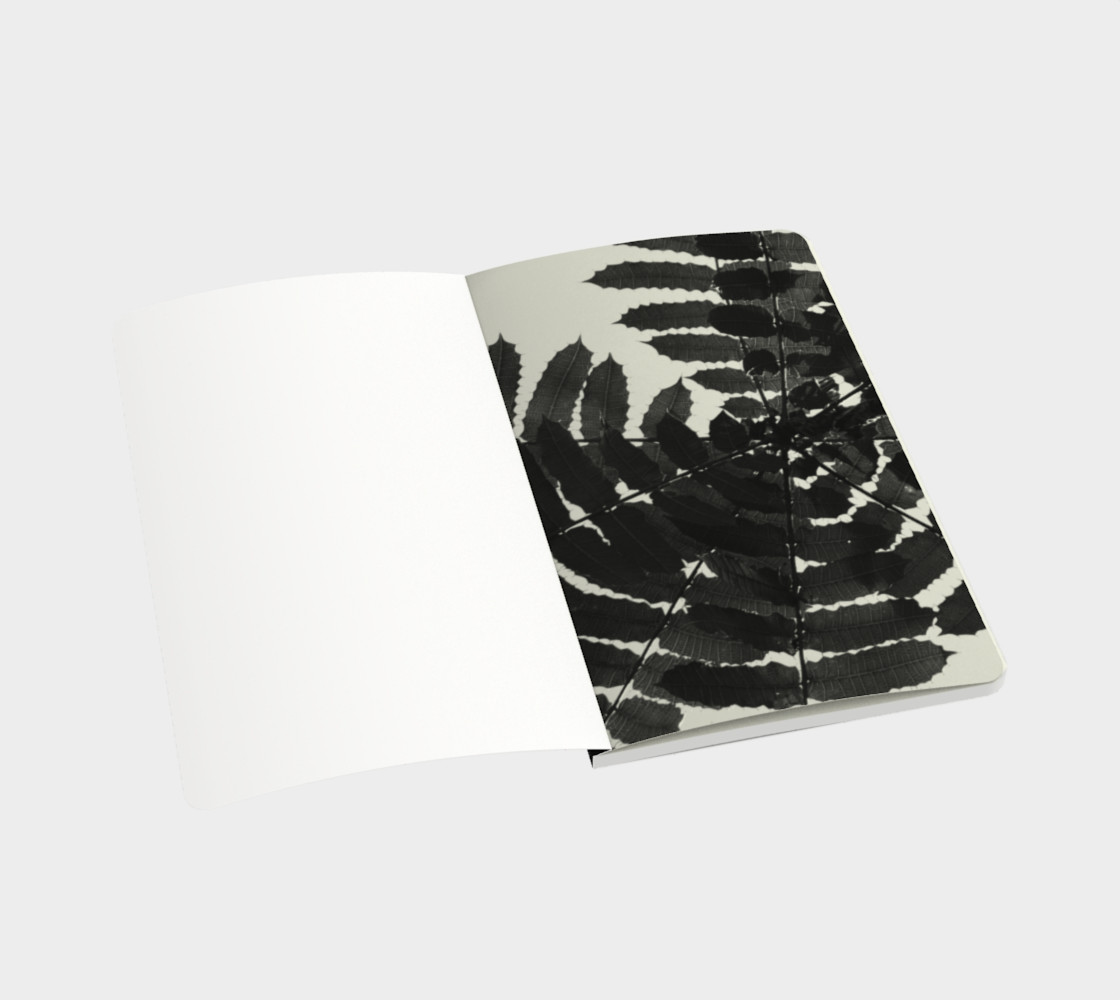 Black and White Leaf Notebook preview #3