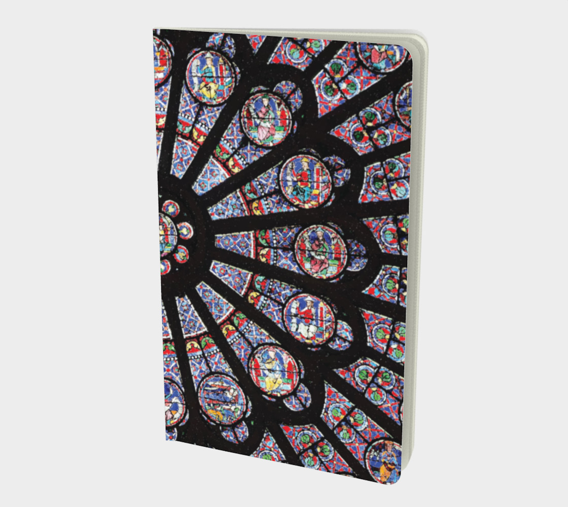 Rose South Window, Notre Dame Paris Small Notebook preview #1