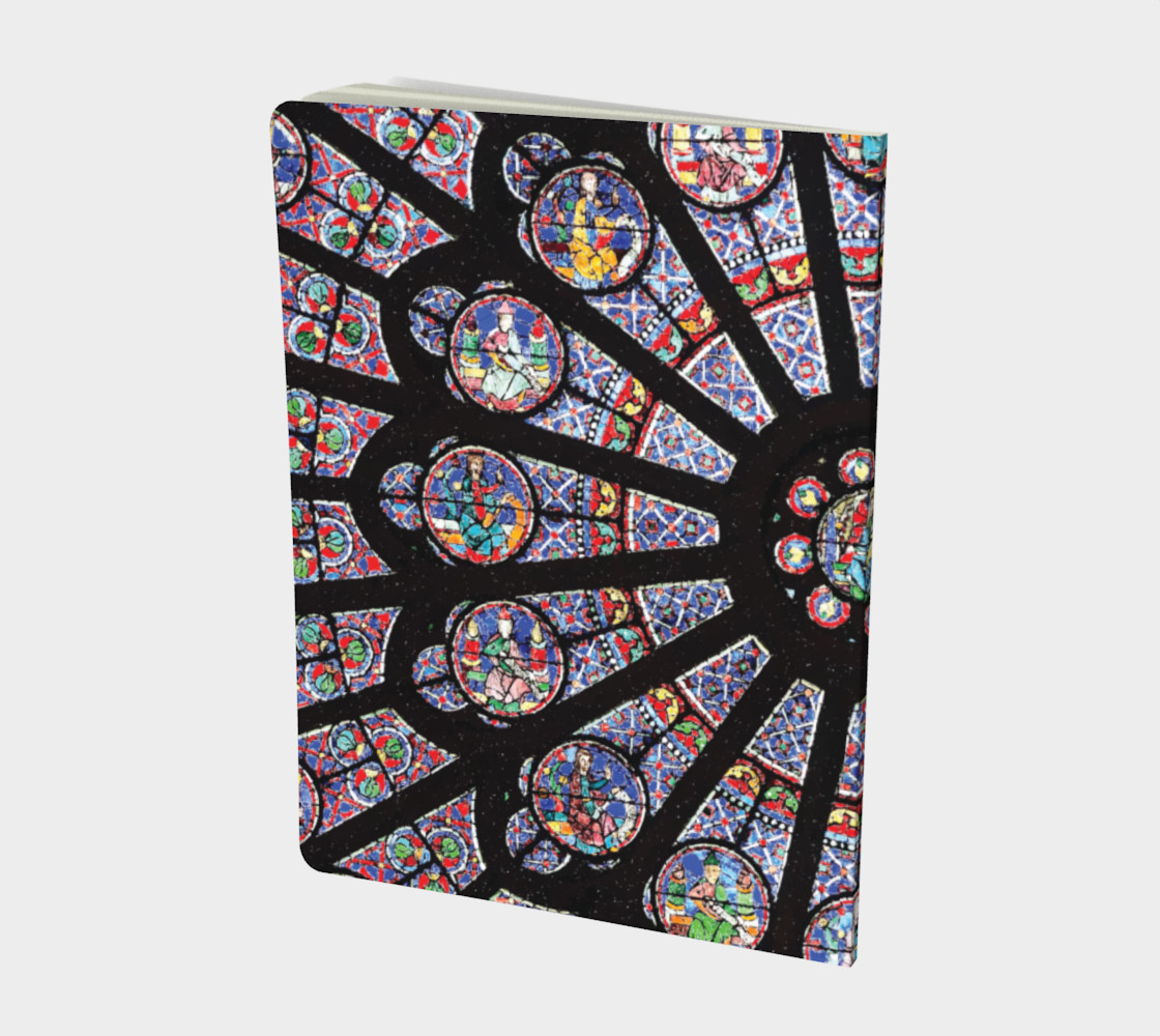 Rose South Window, Notre Dame Paris Large Notebook preview #2