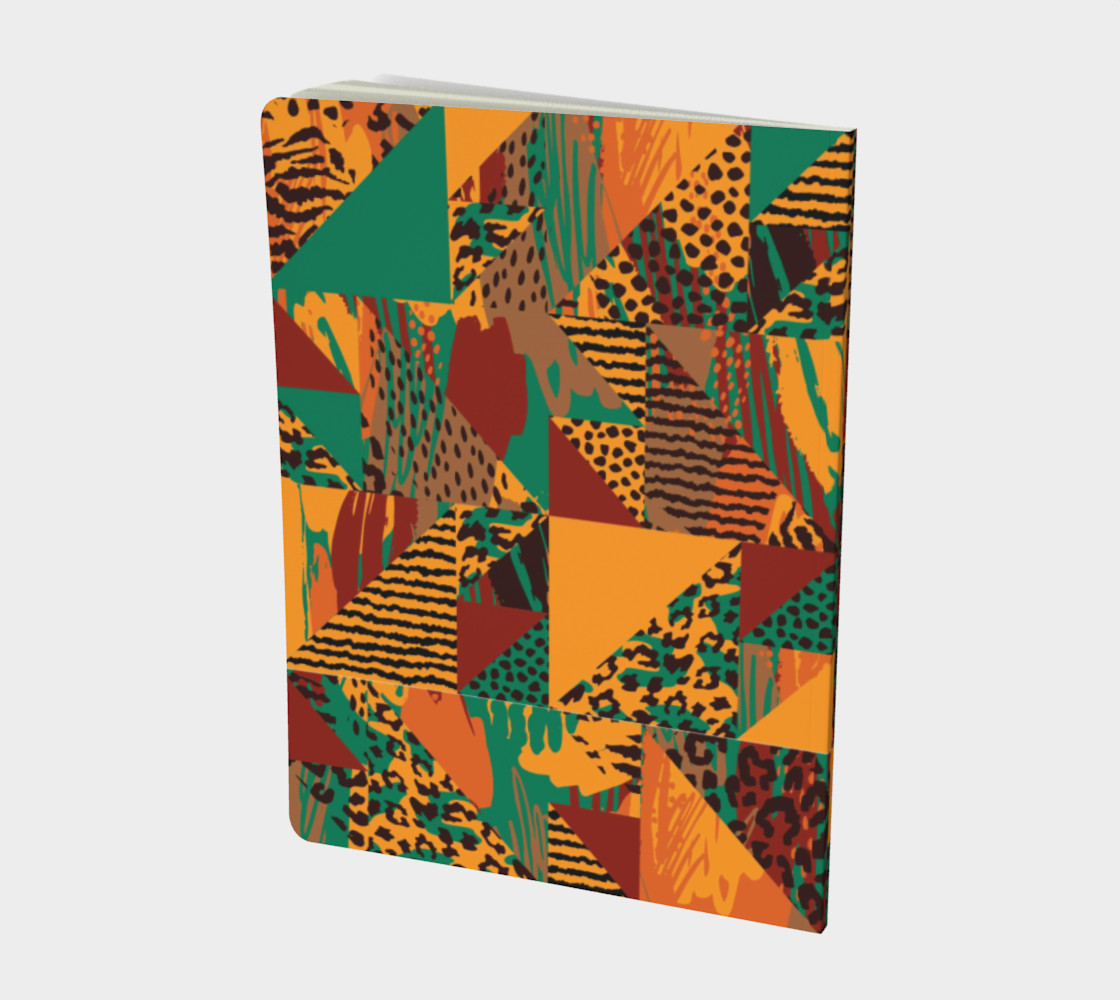 Abstract Safari Print Large Notebook preview #2