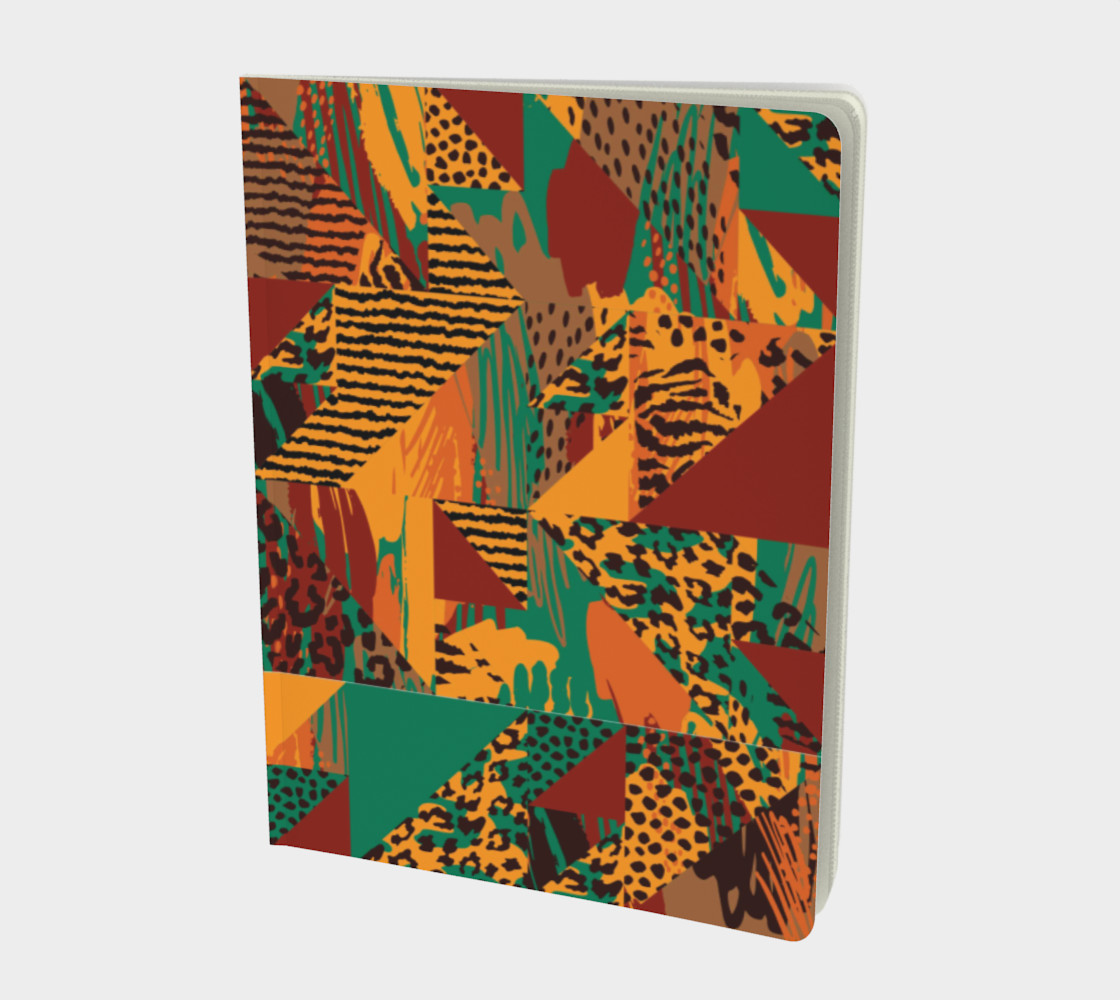 Abstract Safari Print Large Notebook preview #1