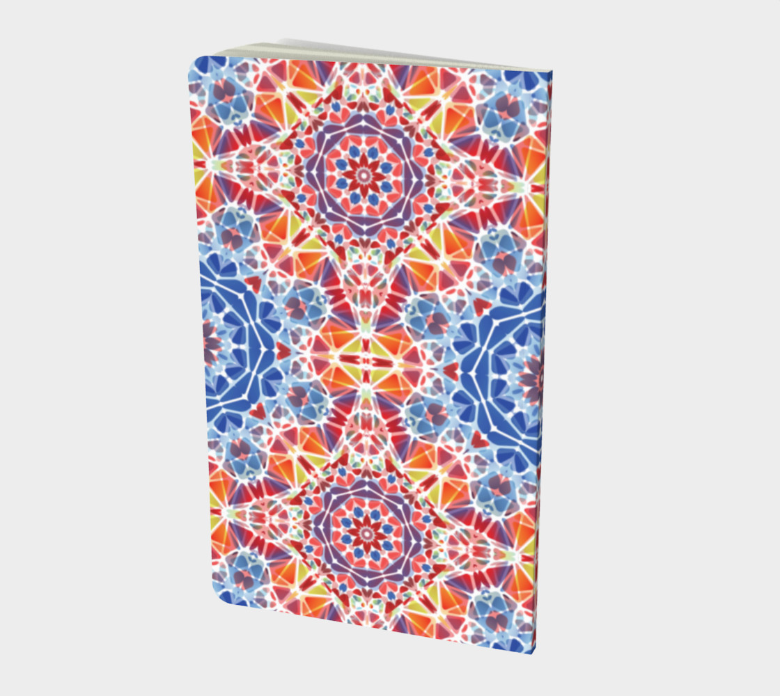 Blue and Orange Kaleidoscope Notebook - Small preview #2