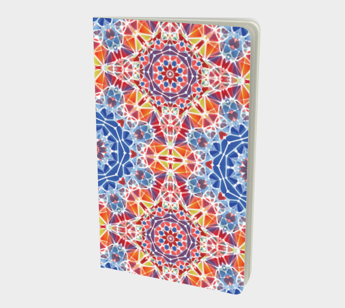Blue and Orange Kaleidoscope Notebook - Small preview #1