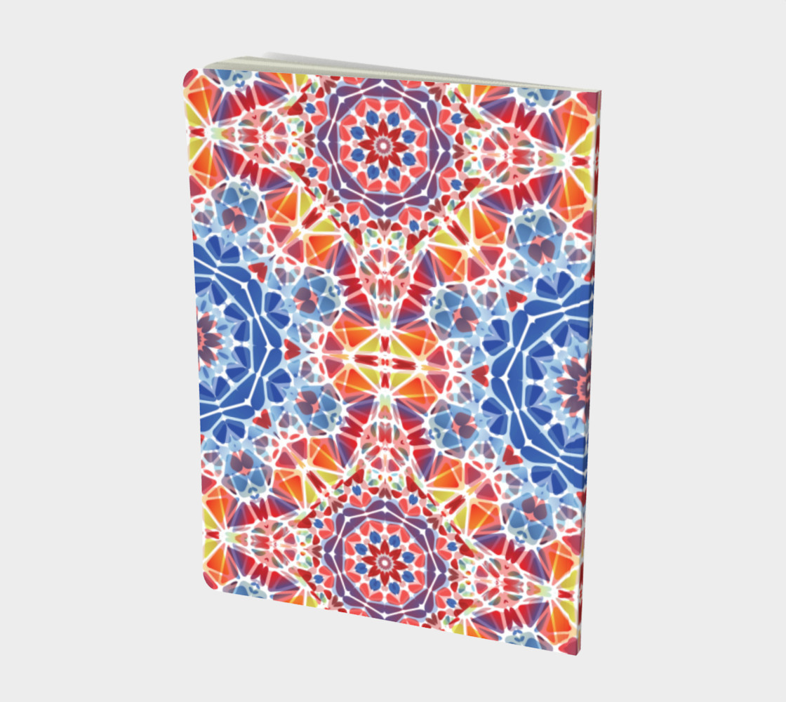 Blue and Orange Kaleidoscope Notebook - Large preview #2