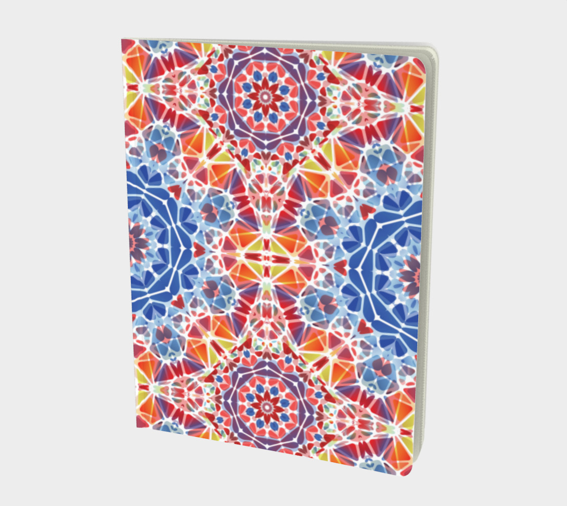 Blue and Orange Kaleidoscope Notebook - Large preview #1