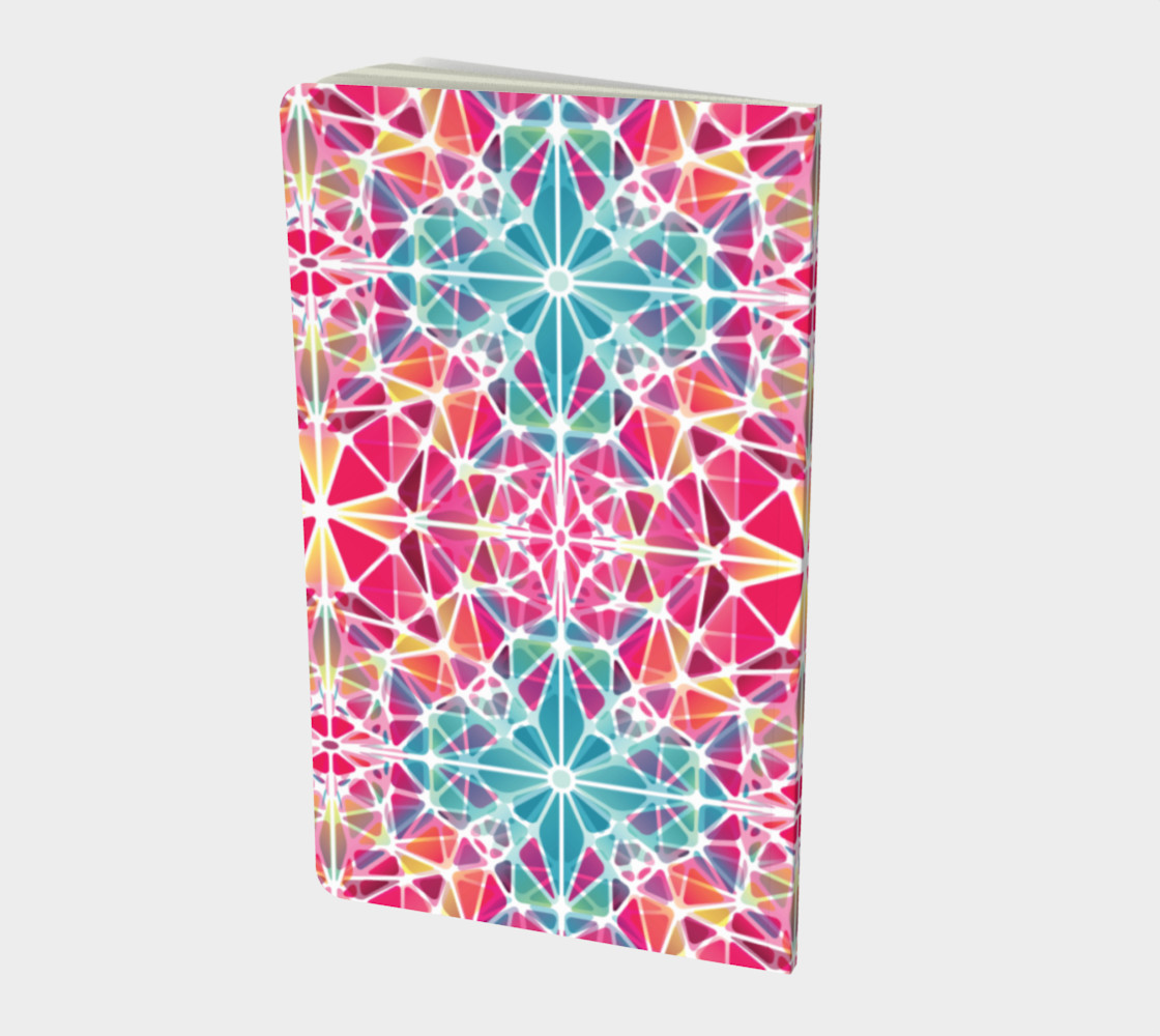 Pink and Blue Kaleidoscope Notebook - Small preview #2