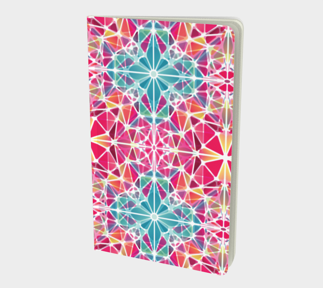 Pink and Blue Kaleidoscope Notebook - Small preview #1
