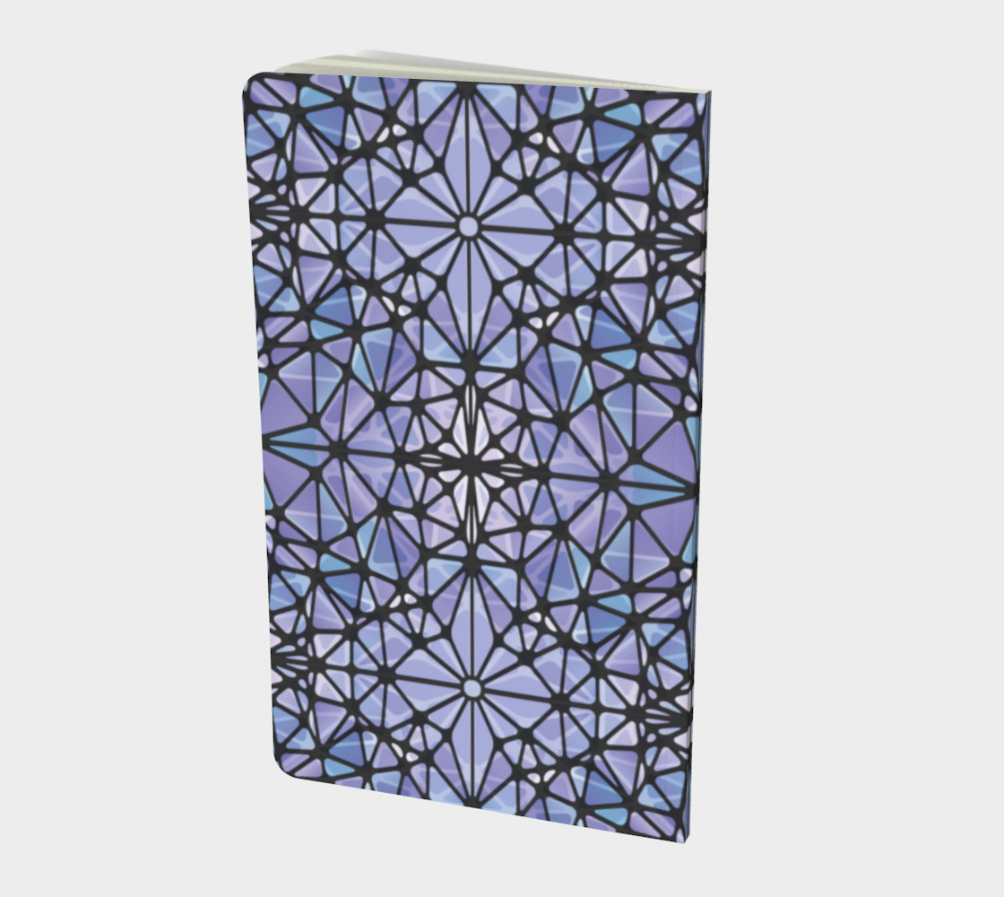 Purple and Blue Kaleidoscope Notebook - Small preview #2