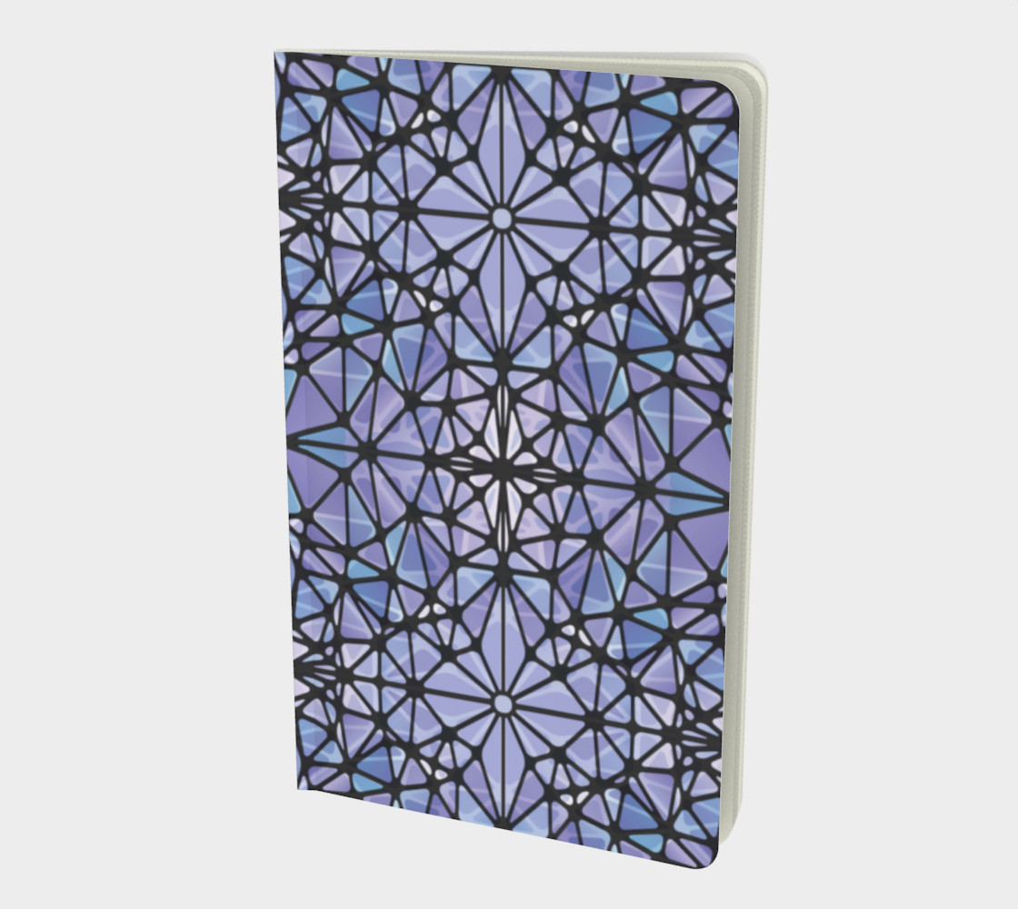 Purple and Blue Kaleidoscope Notebook - Small preview #1