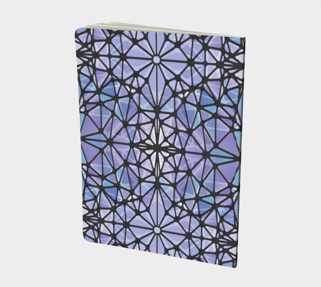 Purple and Blue Kaleidoscope Notebook - Large preview #2
