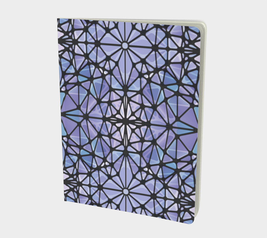 Purple and Blue Kaleidoscope Notebook - Large preview #1