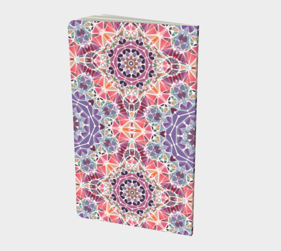 Purple and Pink Kaleidoscope Notebook - Small preview #2