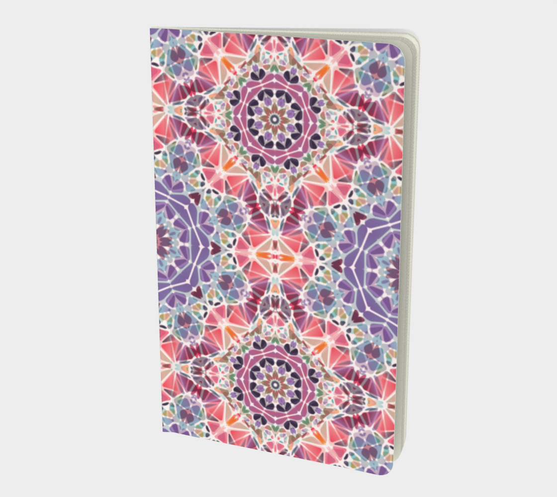 Purple and Pink Kaleidoscope Notebook - Small preview #1