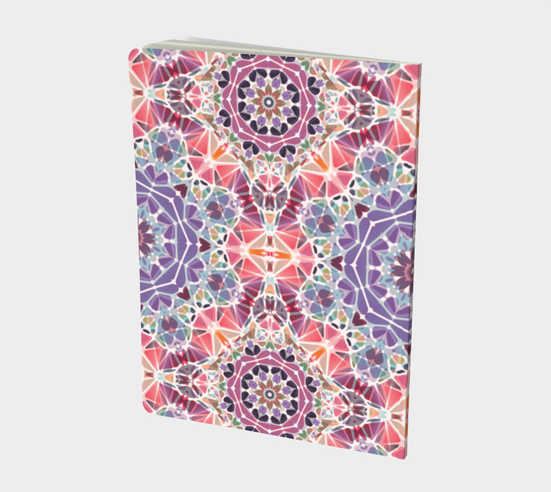 Purple and Pink Kaleidoscope Notebook - Large preview #2
