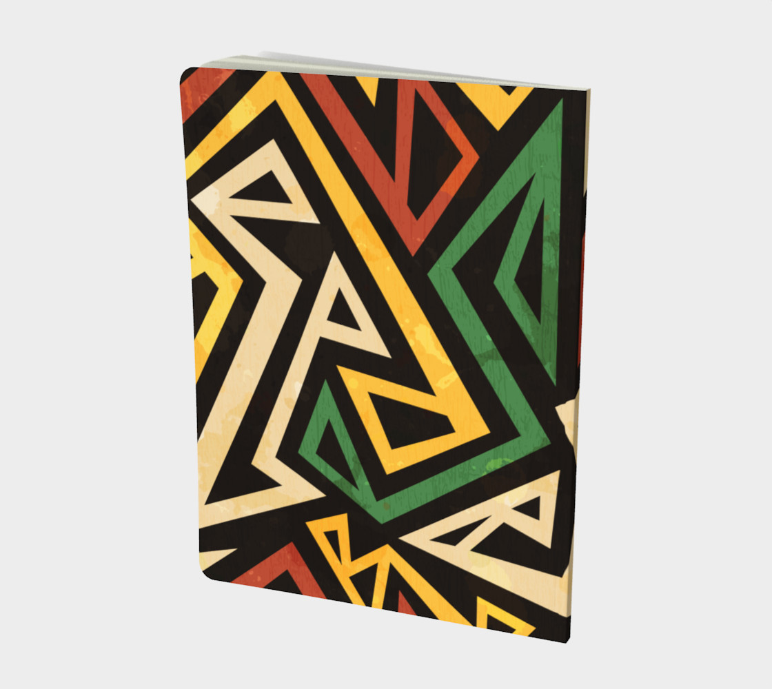 African Geometric Large Notebook (Print by Gudinny) preview #2