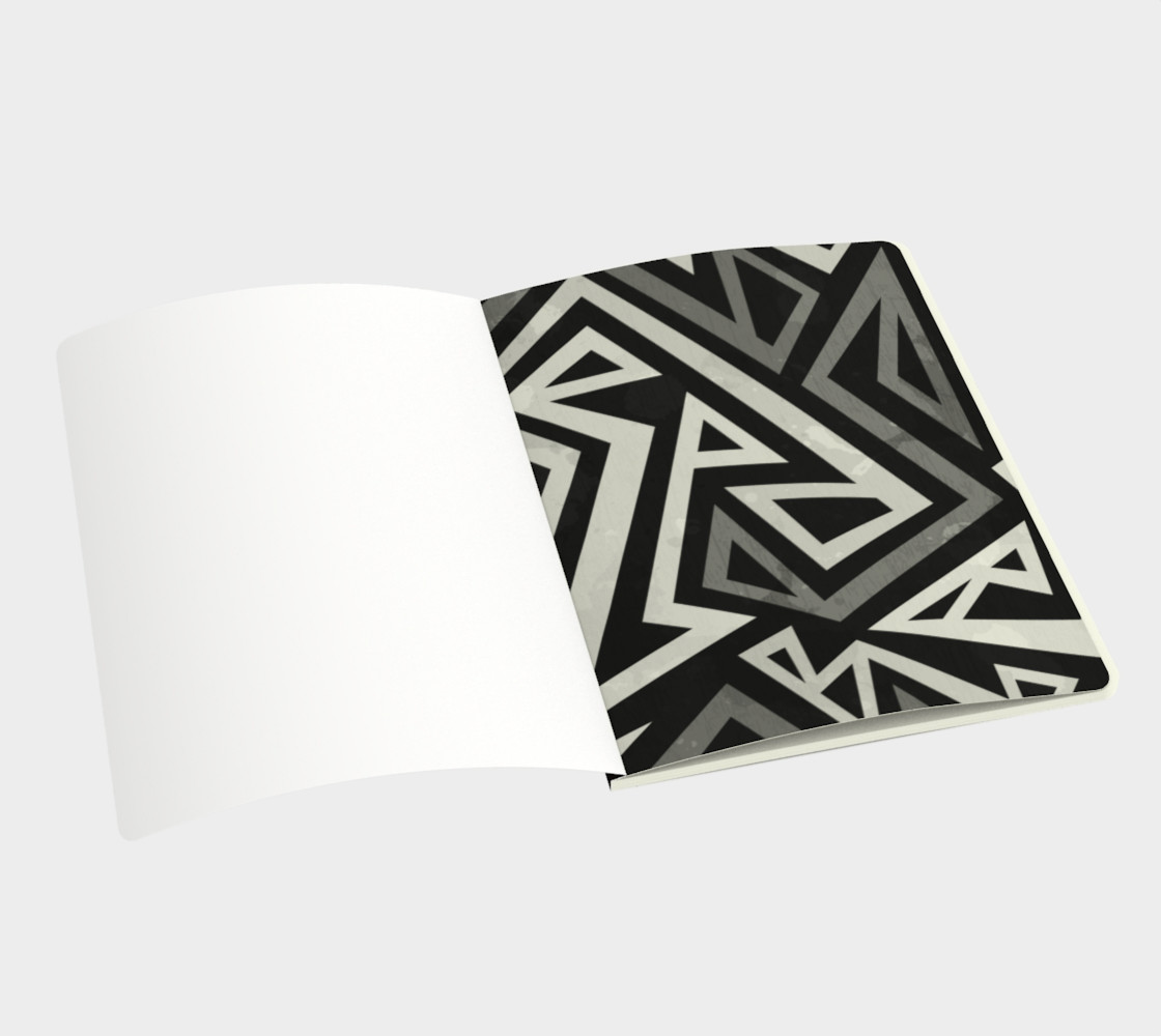 African Geometric Large Notebook (Print by Gudinny) preview #3