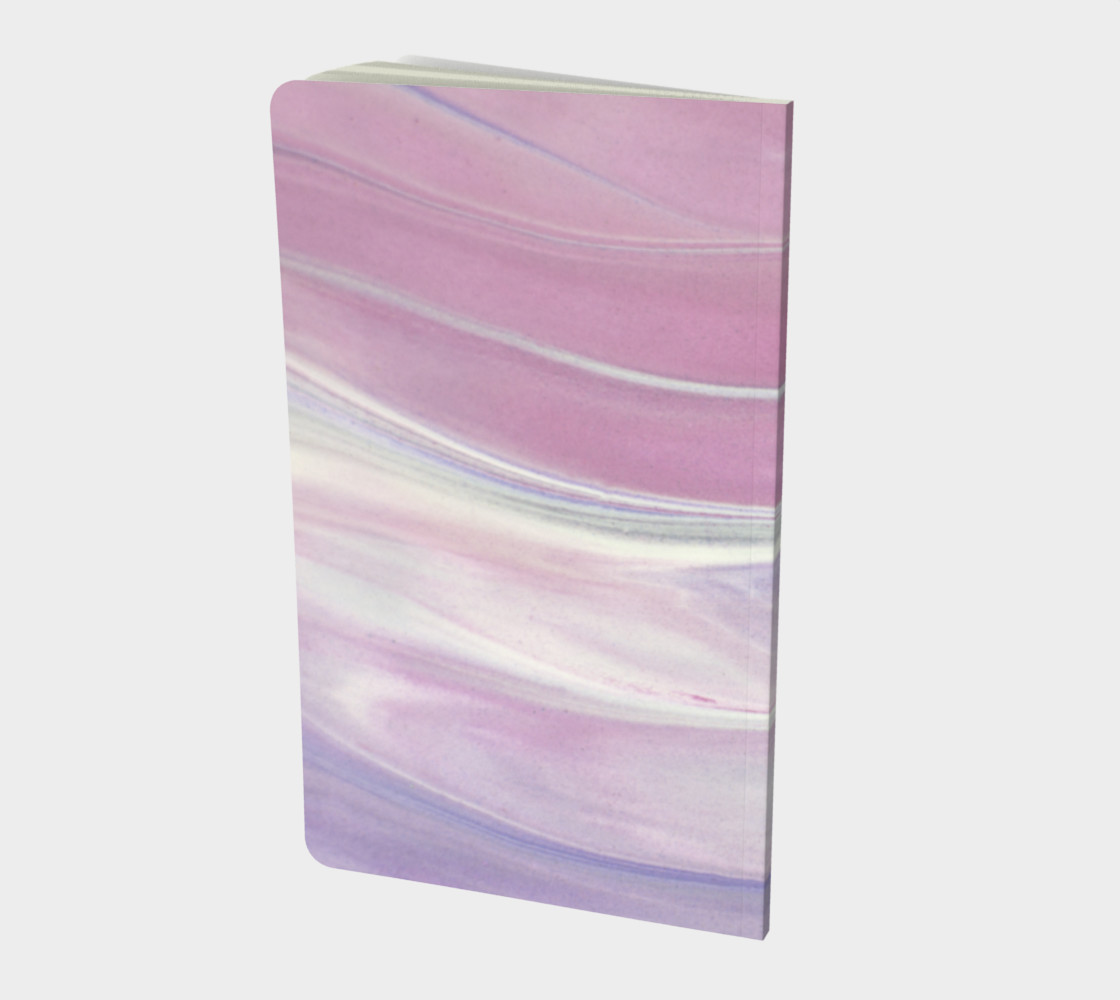Pink & Purple Marble Swirl Notebook preview #2