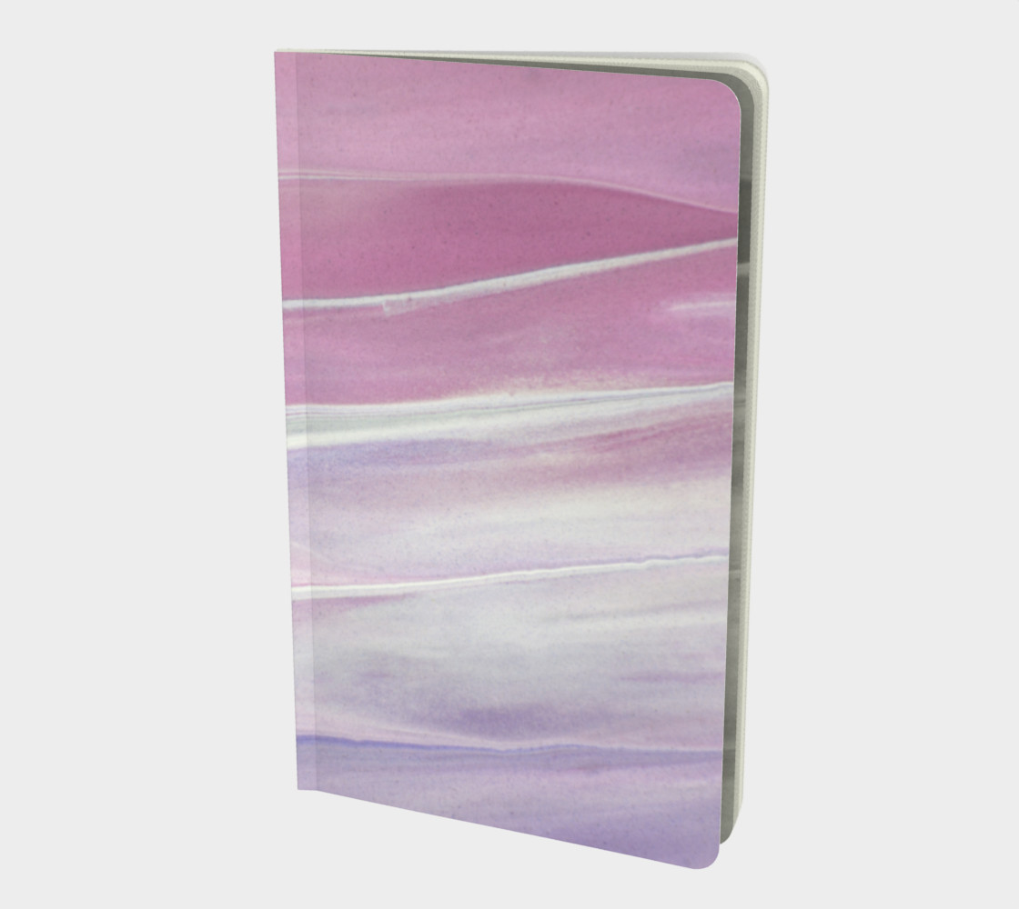 Pink & Purple Marble Swirl Notebook preview #1