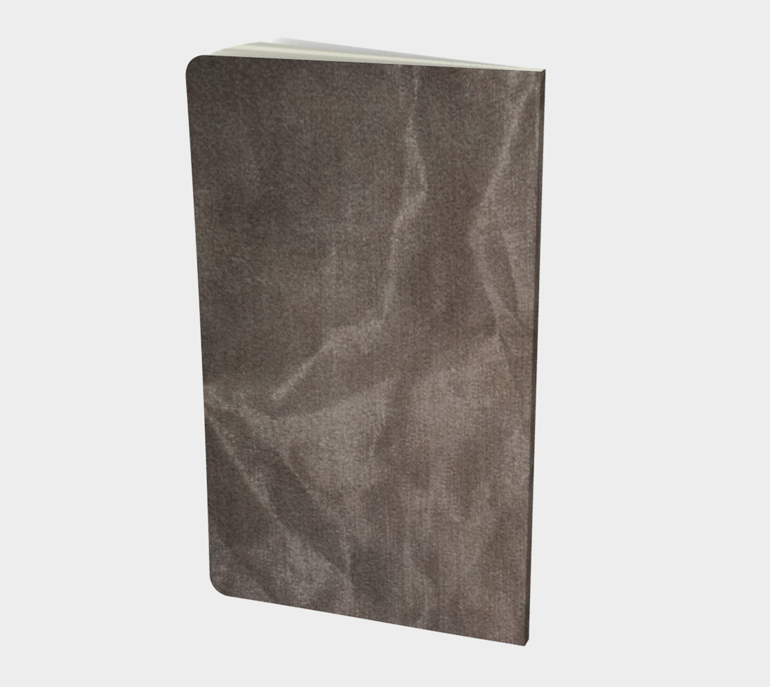 Crinkled Taupe Velvet Notebook preview #2