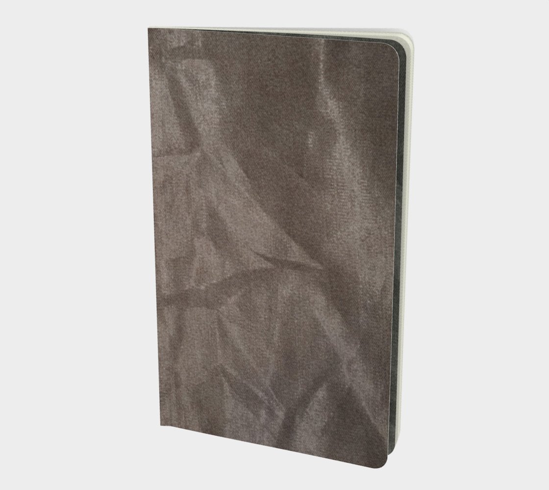 Crinkled Taupe Velvet Notebook preview #1