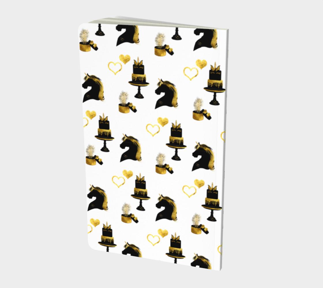Black & Gold Unicorn Celebration Notebook preview #2