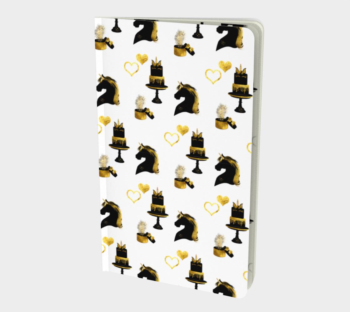 Black & Gold Unicorn Celebration Notebook preview #1