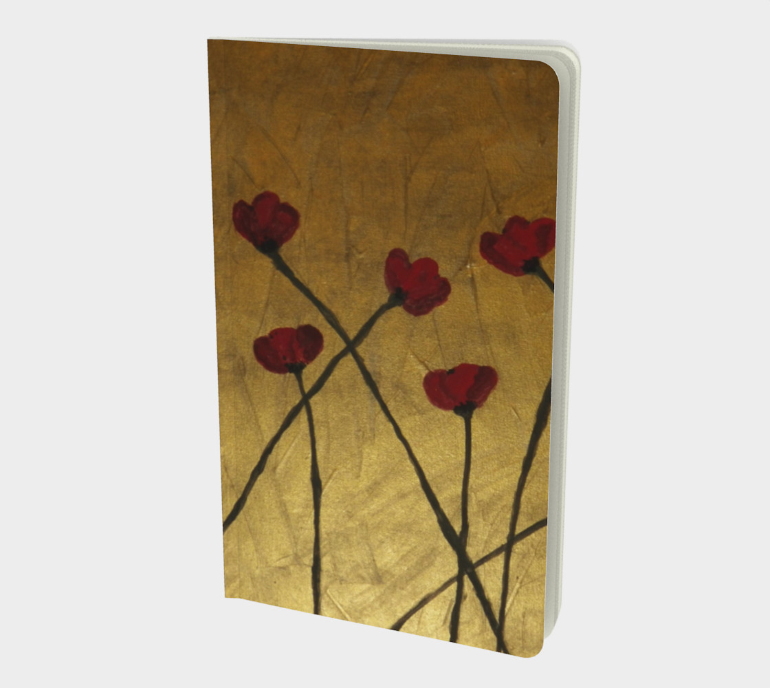 Poppies on Copper Small Notebook preview #1