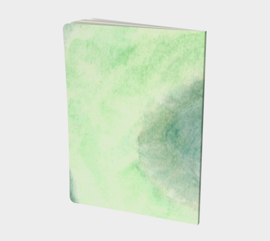 Green Dimension Flower Large Notebook preview #2