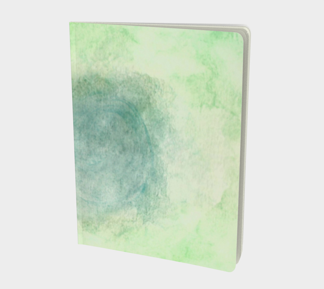 Green Dimension Flower Large Notebook preview #1
