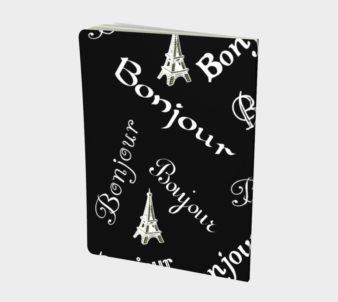 White Bonjour Large Notebook Miniature #3