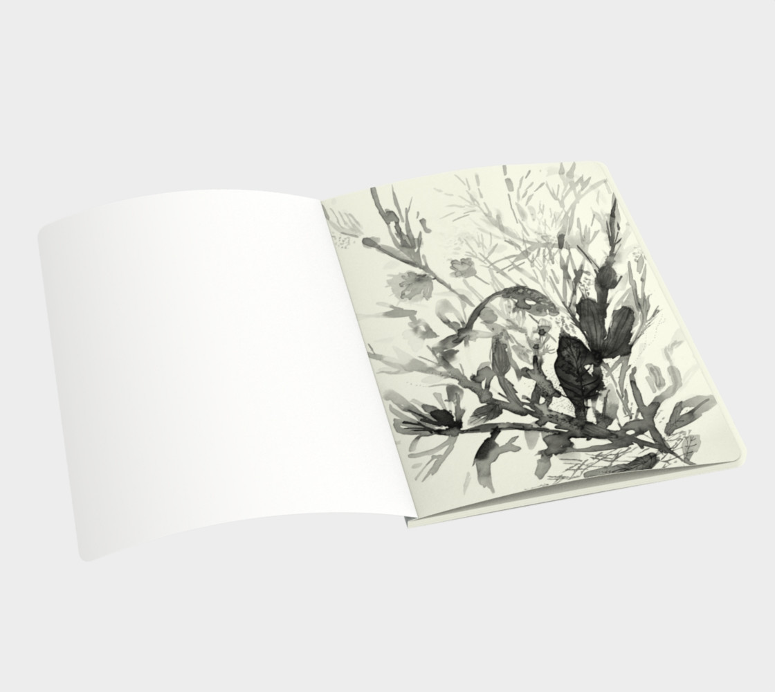 Aperçu de Carnet Blue Seaweeds #3