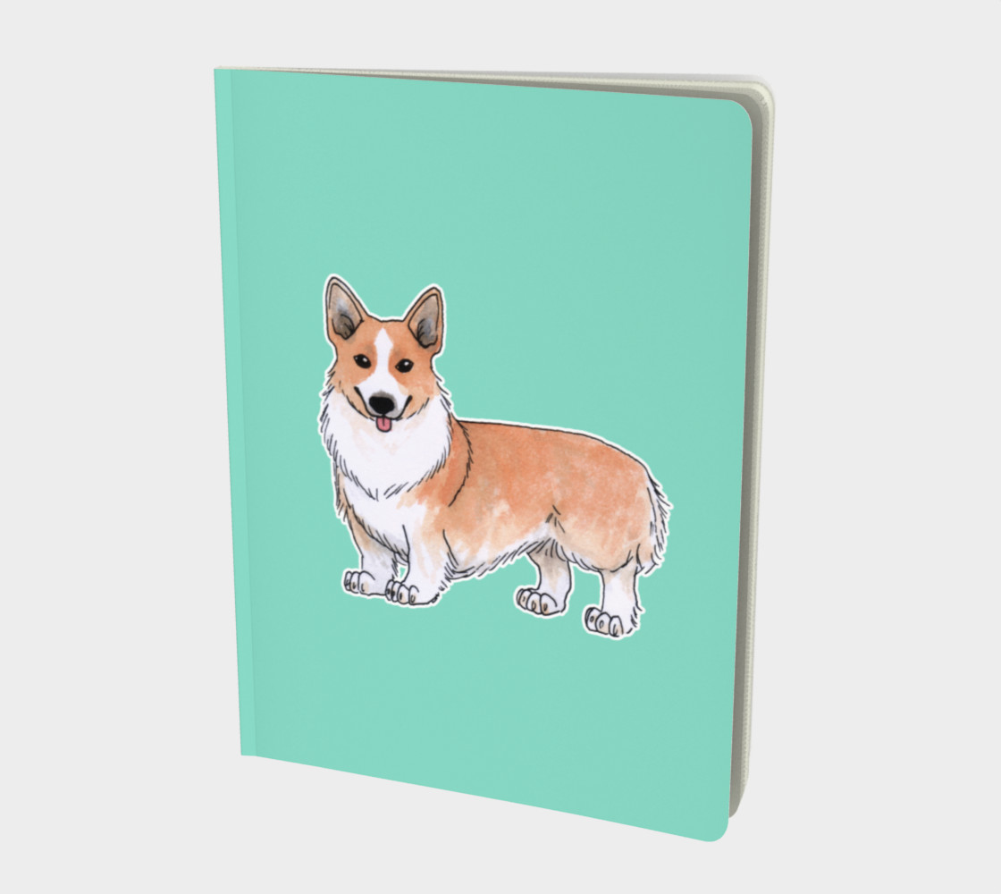 Welsh corgi dog Large Notebook preview #1