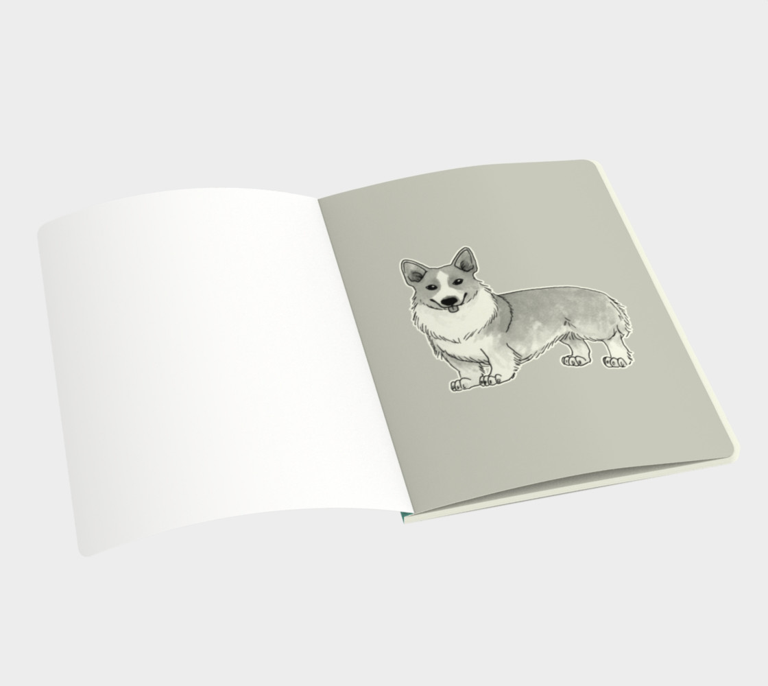 Welsh corgi dog Large Notebook preview #3