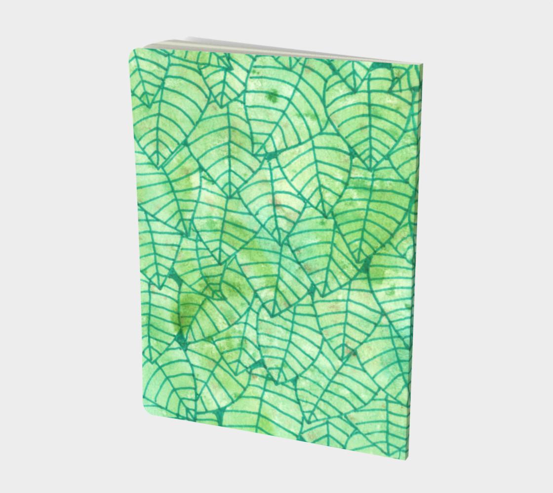 Aperçu de Green foliage Large Notebook #2