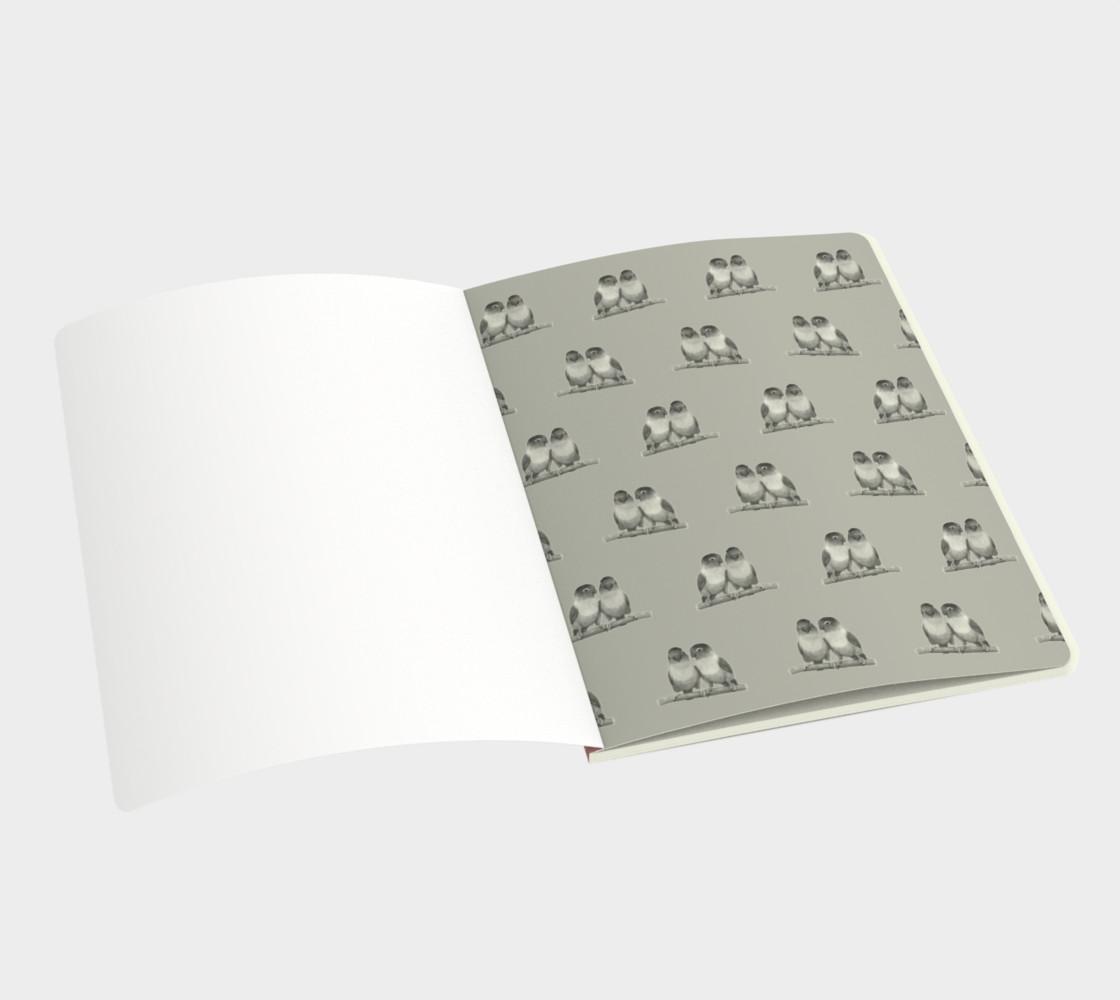 Fischer's lovebirds pattern Large Notebook preview #3