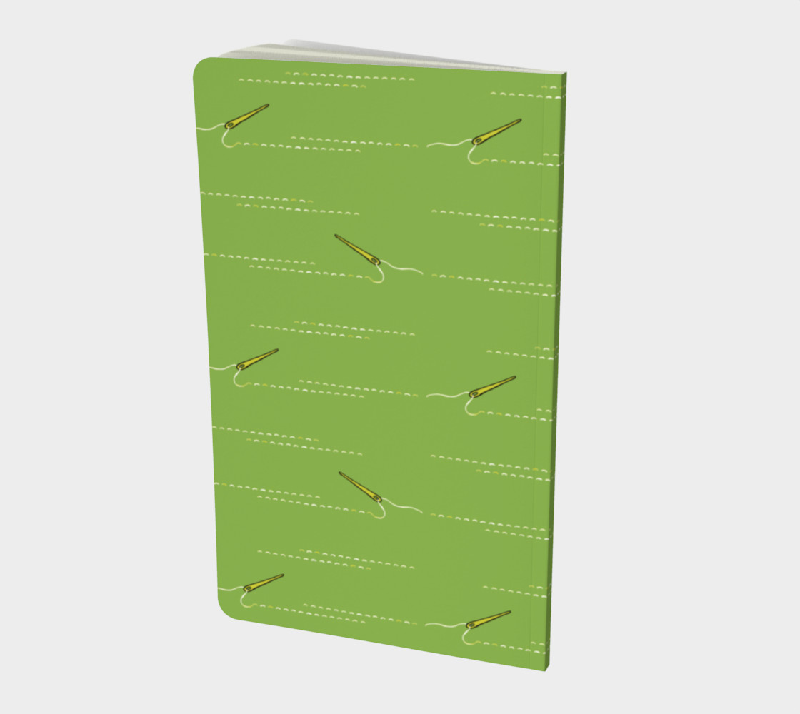 Sewing Green notebook preview #2